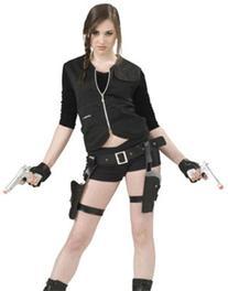 Treasure Huntress Tomb Vixen Thigh Holster Set w/ Guns Adult