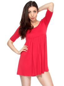 Simplicity Trendy Babydoll Dress with a Comfortable Pleated