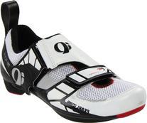 Pearl iZUMi Men's Tri Fly IV Spinning Shoe,Black/White,44 EU
