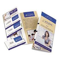 Tri-Fold Brochure W/tear-Away Cards, 8-1/2 X 11, Soft Gloss
