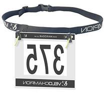 VeloChampion Triathlon Race Number Belt - Also for Running,