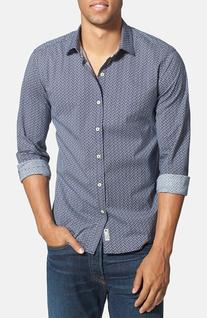 Men's 7 Diamonds 'Blueberry Hill' Trim Fit Print Woven Shirt