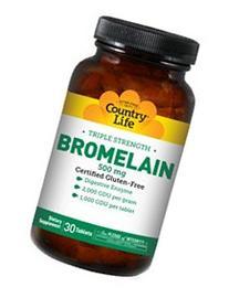 Country Life Triple Strength Bromelain, 500 mg., 2,000  GDU