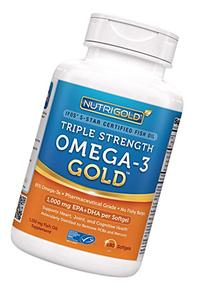 Nutrigold Triple Strength Omega-3 Gold Fish Oil Supplement,