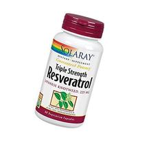 Triple Strength Resveratrol 225 mg Solaray 60 VCaps