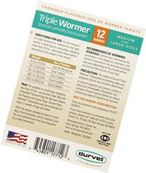 Durvet-pet Triple Wormer from med & Lrg Dogs 2 Count -