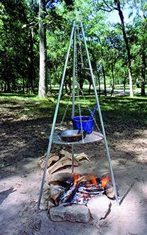 Texsport Camping Tripod Grill and Lantern Hanger