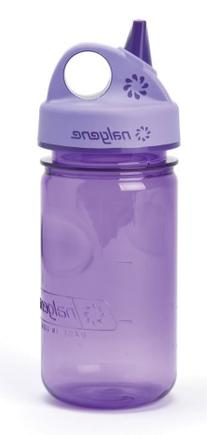NALGENE Tritan Grip-N-Gulp BPA-Free Water Bottle,Purple,12