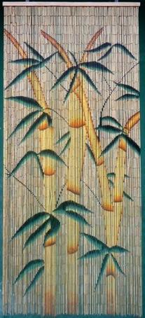 Tropical Bamboo Stalks Beaded Curtain 125 Strands
