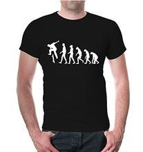 buXsbaum T-Shirt The Evolution of skate-L-Black-White