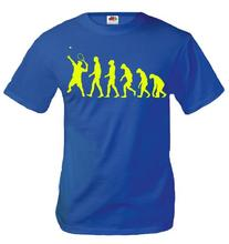 buXsbaum T-Shirt The Evolution of tennis-L-Royal-Neonyellow