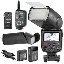 Neewer TT850 *LI-ION BATTERY* Flash Speedlite With FT-16S Wireless Flash Trigger And LI-ION BATTERY Car Charger For Canon, Nikon, Pentax, Olympus and