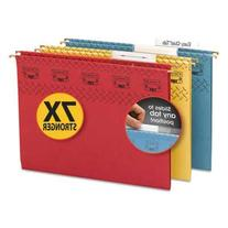 -- Tuff Hanging Folder with Easy Slide Tab, Letter, Assorted