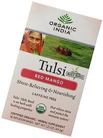 Tulsi Tea Red Mango - 18 Tea Bags - Case of 6