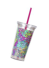 Lilly Pulitzer Travel Tumbler - Blue/green