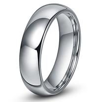 6MM Tungsten Men's Plain Dome Wedding Band Ring Sz 9.0