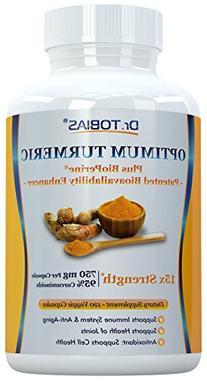 Dr. Tobias Turmeric Curcumin - 15x Strength: 750 mg per