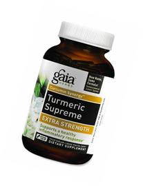 Gaia Herbs Turmeric Supreme Extra Strength, Vegan Liquid Capsules, 120 Count - Turmeric Curcumin Supplement with Black Pepper, Daily Joint Support &