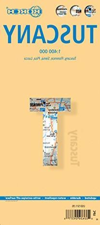 Tuscany, Italy - Laminated Borch Map