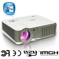 EUG Home Theater Projector HD 1080p Support 2500 Lumen HDMI