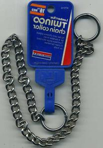 "16"" Medium Lambert Kay Twin Choke Chain Collar"