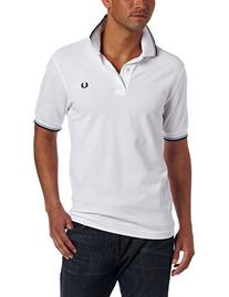 Fred Perry Men's Twin Tipped Polo Shirt-M1200, White/Ice/