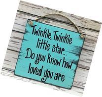 TWINKLE TWINKLE Little Star LOVE You Nursery Wood Wall Sign