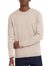 Topman Twisted Crew Neck Sweater-STONE-Large