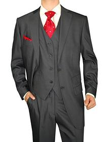Gino Valentino 3 Piece Men's Two Button Ticket Pocket Jacket