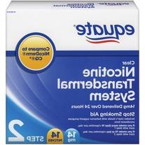 Equate Step Two Clear Transdermal System Nicotine Patches,
