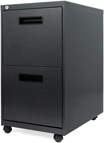 Alera® Two-Drawer Mobile Pedestal File with Visible Casters