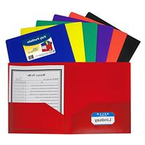 C-Line Two-Pocket Heavyweight Poly Portfolio, For Letter