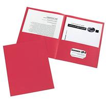Avery Two-Pocket Folders, Red, Box of 25