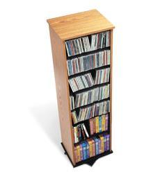 Two Sided Spinner, holds 528 CDs Oak
