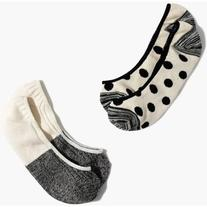 MADEWELL Two-Pack Spring Dot & Colorblock Low-Profile Socks