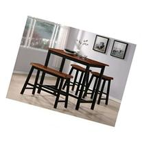 Tyler 4-piece Counter Height Table Set By Crown Mark
