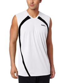 Asics Men's Tyson Sleeveless Jersey, Large, Black/White