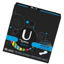 U by Kotex Curves Lightdays Pantiliners, 50-count