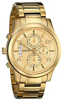 GUESS Men's U0075G5 Dressy Gold-Tone Stainless Steel Multi-