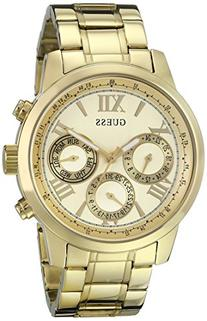 GUESS Women's U0330L1 Sporty Gold-Tone Stainless Steel Watch