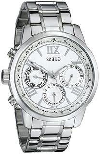 GUESS Women's U0330L3 Sporty Silver-Tone Stainless Steel