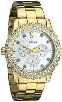 GUESS Women's U0335L2 Gold-Tone Multi-Function Watch with