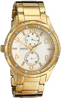 GUESS Women's U0442L2 Mid-Size Gold-Tone Multi-Function