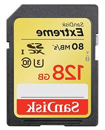 SanDisk Extreme 128GB U3/UHS-I SDXC with 4K Ultra HD, up to