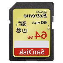 SanDisk Extreme 64GB UHS-I/U3 SDXC Memory Card Up To 60MB/s