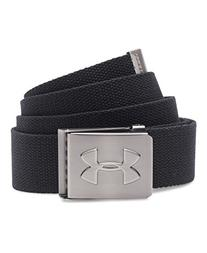 Under Armour Men's Webbed Belt, Black/Graphite, One Size