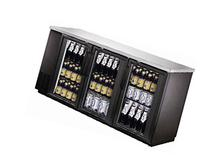 "UBB-24-72G 72"" Narrow Glass Door Back Bar Cooler Stainless"