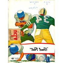 "UCLA ""The Goal Post"" 1956 Magazine w/ Game Ticket"