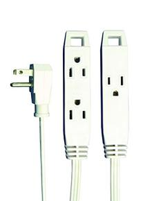 AXIS UCU203P/UCU203R 3 Outlet Indoor Extension Cord, 8 ft