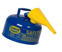 Eagle UI-25-FSB Blue with Funnel Metal Safety Gas Can, 2.5